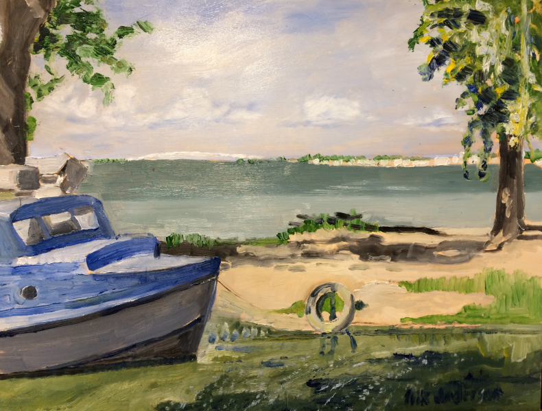 Fishing Boat in Marblehead - 2018 (sold)