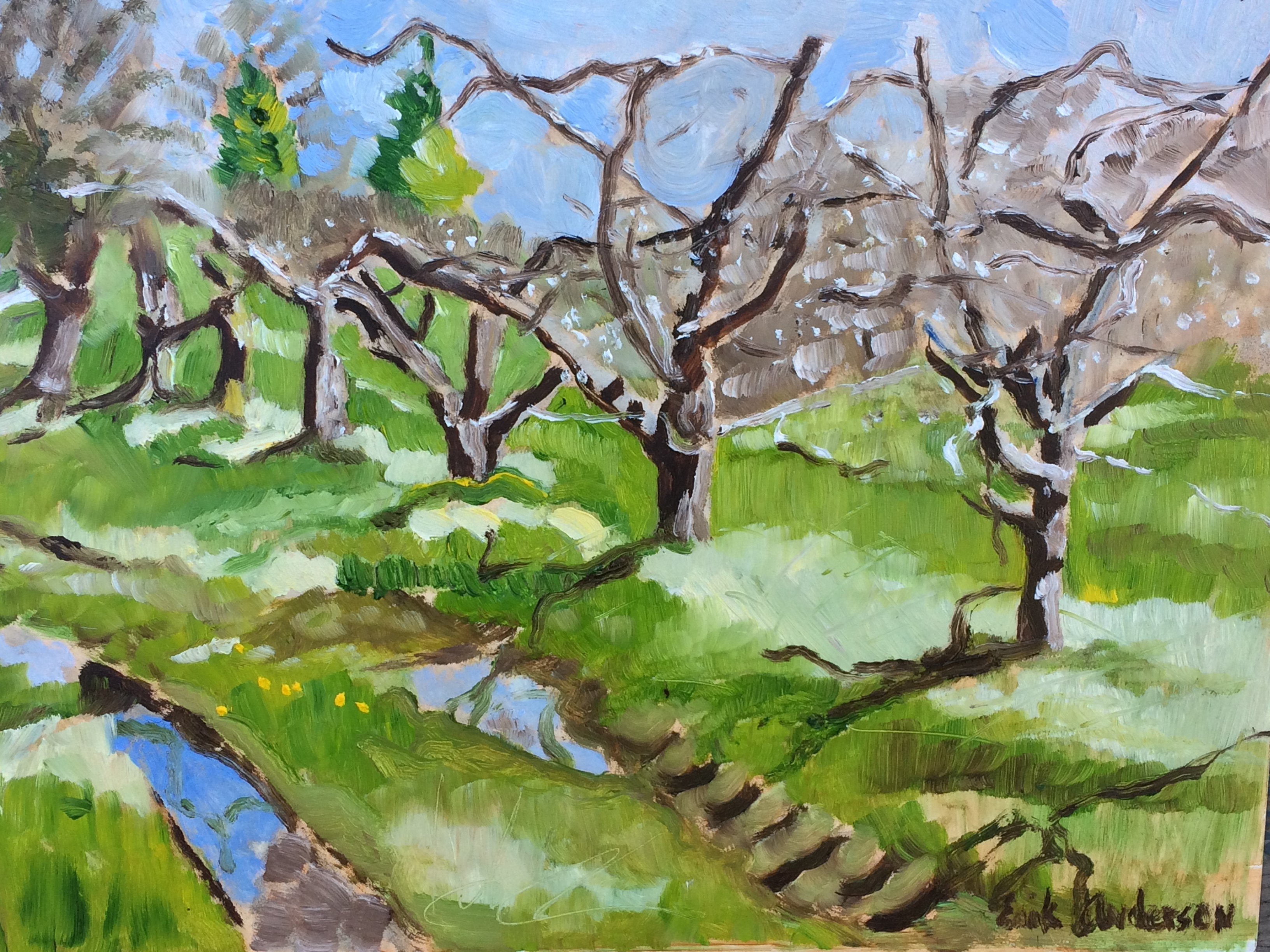 April Plein Air in the Orchard