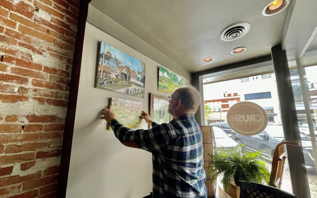 Visit Crush Winebar to see my paintings!