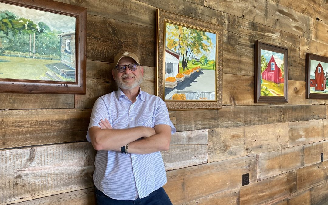 Great friends, a great farm & now, my paintings